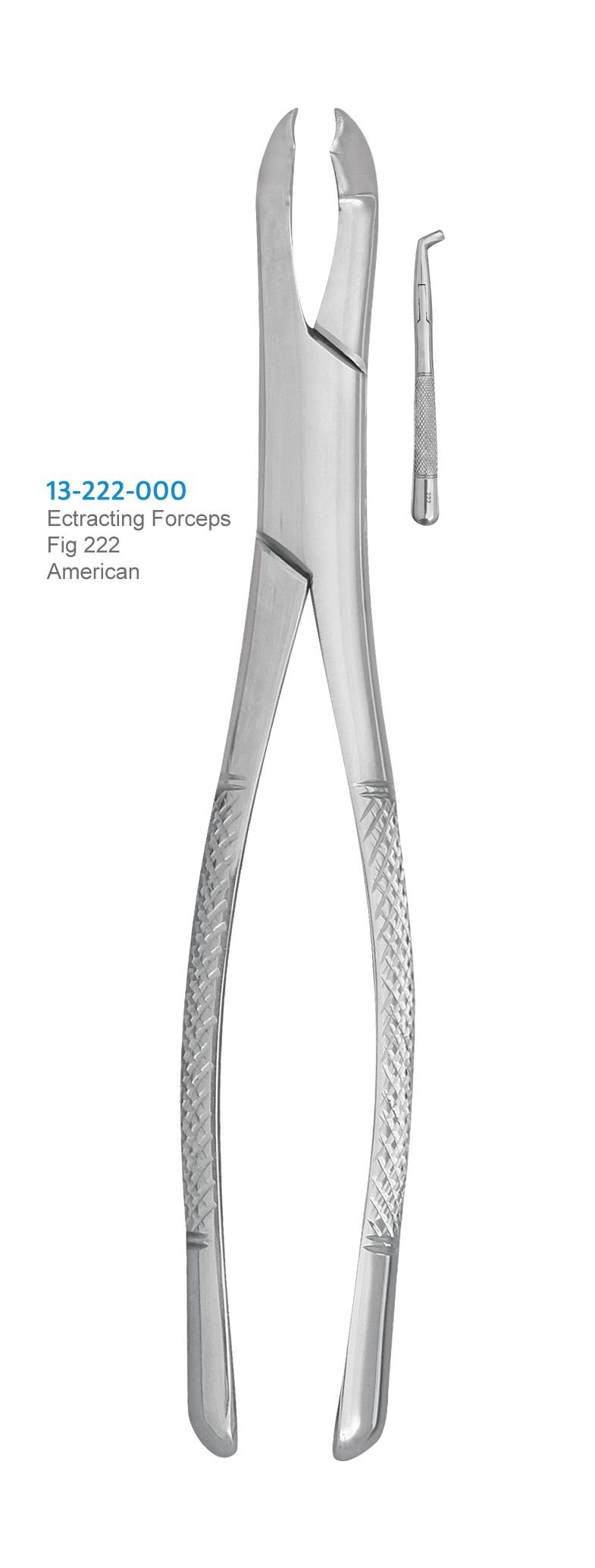 Extracting Forceps, Fig.222, Professional Quality Dental Instrument