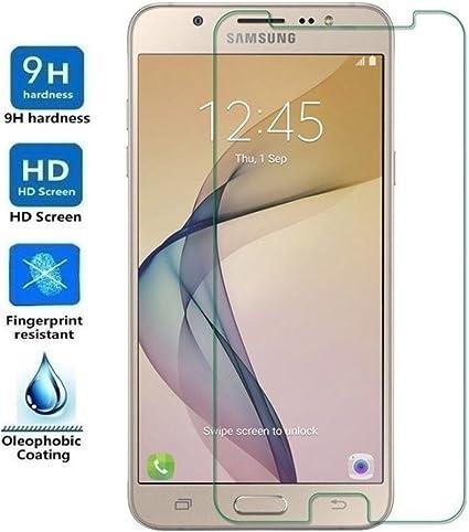 REY Protector de Pantalla para Samsung Galaxy J7 Prime, Cristal Vidrio Templado Premium: Amazon.es: Electrónica
