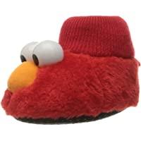 Sesame Street Baby Elmo Puppet Slipper, Red, 7/8 Child US Toddler