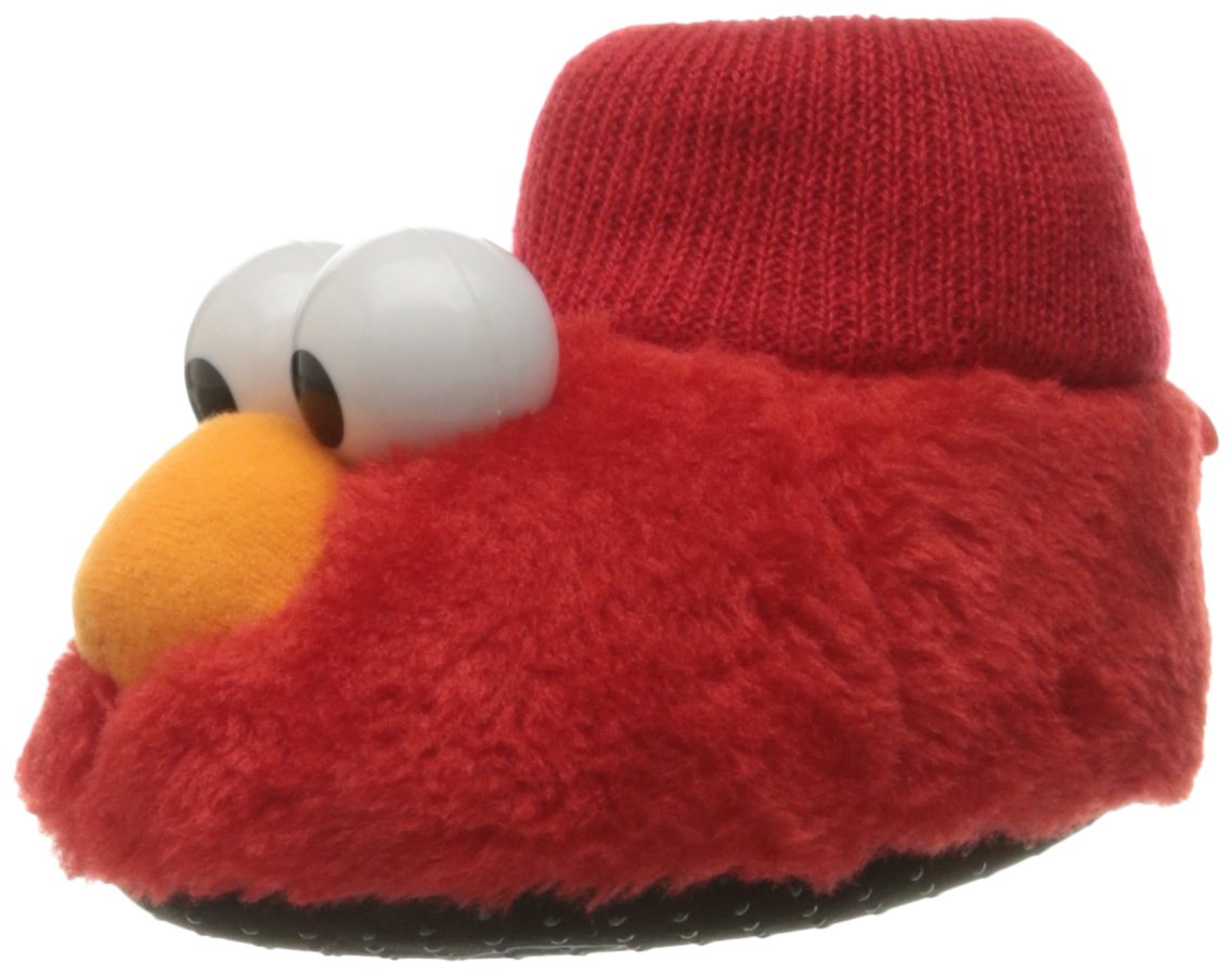 Sesame Street Baby Elmo Puppet Slipper, Red, 3/4 Child US Toddler