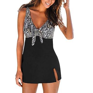 Mnyycxen swimwear Women Plus-Size Tankini Flower Printing ...