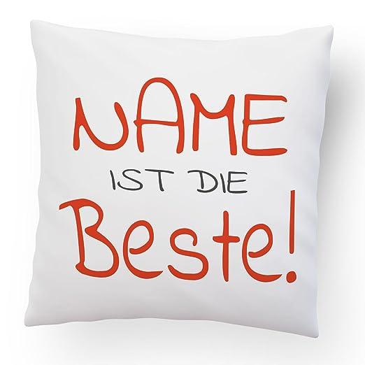 DESIGN82 Berlin Cojín Mejor/Discreta + Nombre Personalizado ...