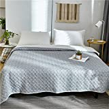 Air Conditioning Quilt Jacquard Double-Sided Color Spinning Cotton Suitable Home (Size : 150200cm)