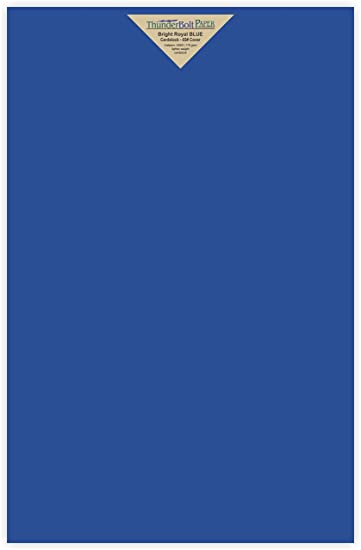 Amazon.com : 25 Bright Royal Blue Color 65# Cover/Card Paper Sheets ...