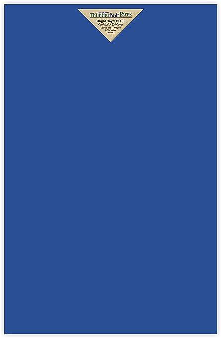 Amazon.com : 25 Bright Royal Blue Color 65# Cover/Card Paper Sheets ...