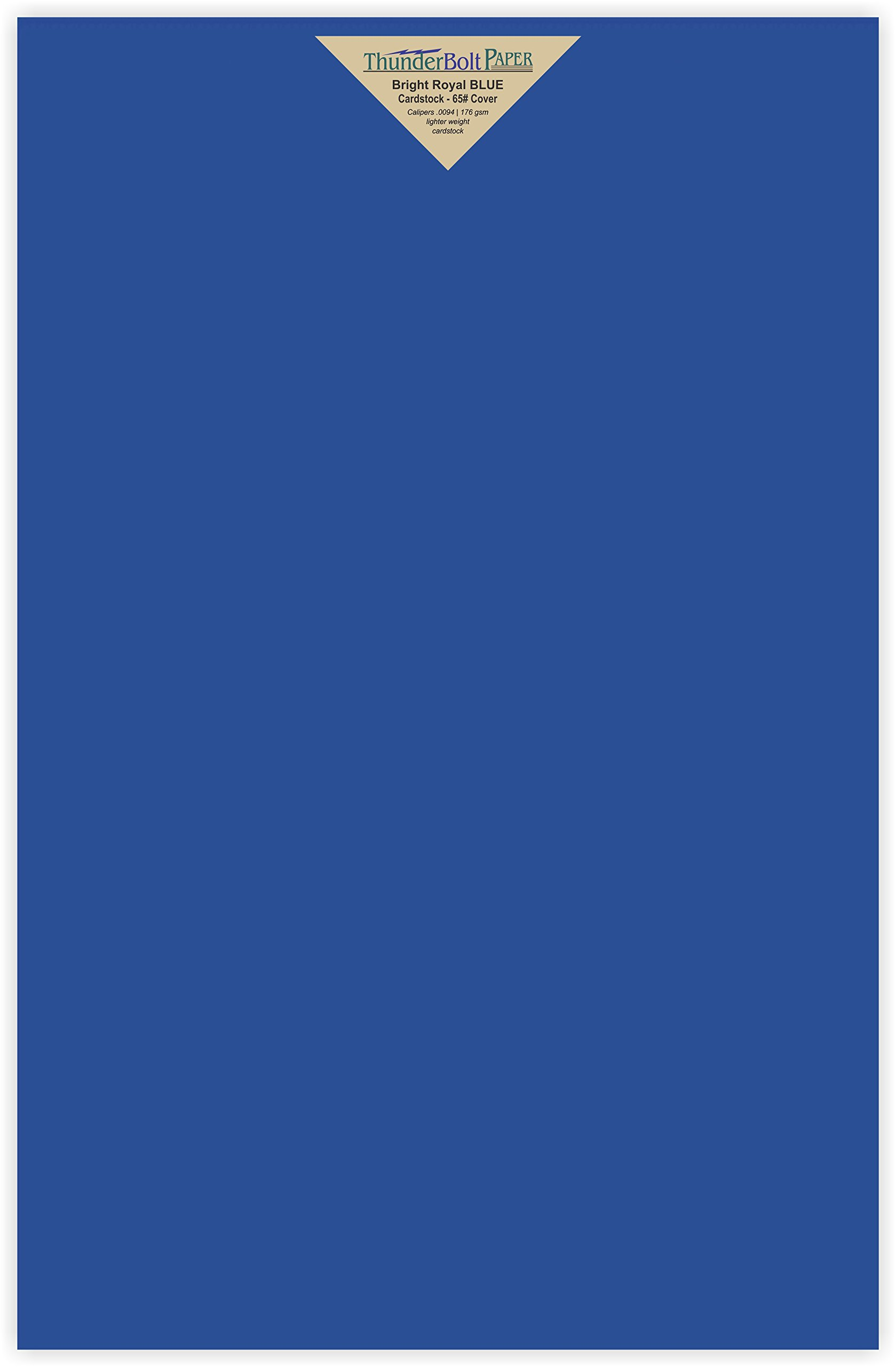25 Bright Royal Blue Color 65# Cover/Card Paper Sheets 11 X 17 Inches Colored Sheets Tabloid or Ledger Size - 65 lb/pound Light Weight Cardstock - Quality Smooth Paper Surface