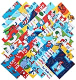 Arts & Crafts : Robert Kaufman DR. SEUSS Precut 5-inch Cotton Fabric Quilting Squares Charm Pack Assortment Dr Seuss
