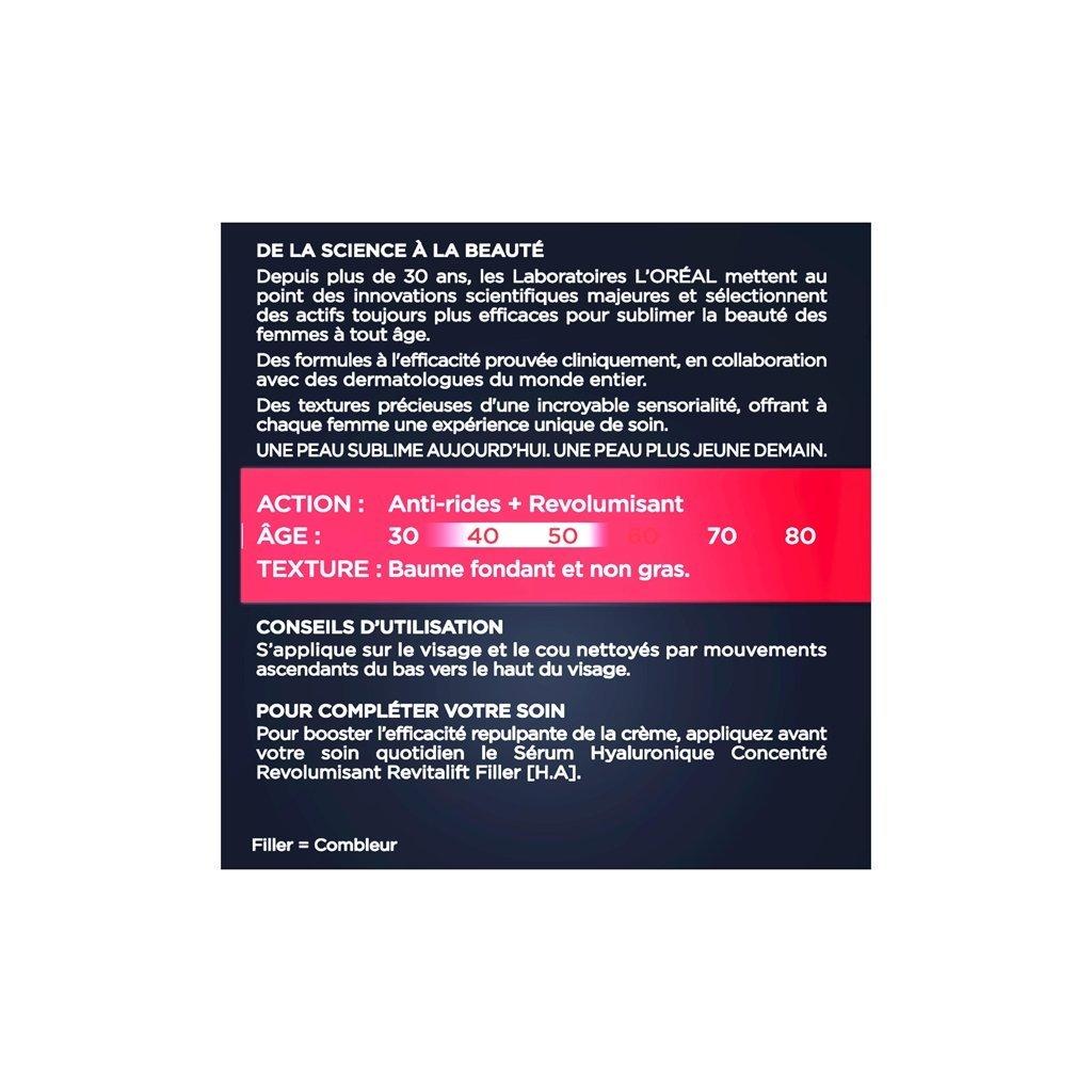 LOréal Paris - Crema revitalizante, cuidado antiedad, volumen progresivo, ácido hialurónico, 50 ml: Amazon.es: Salud y cuidado personal