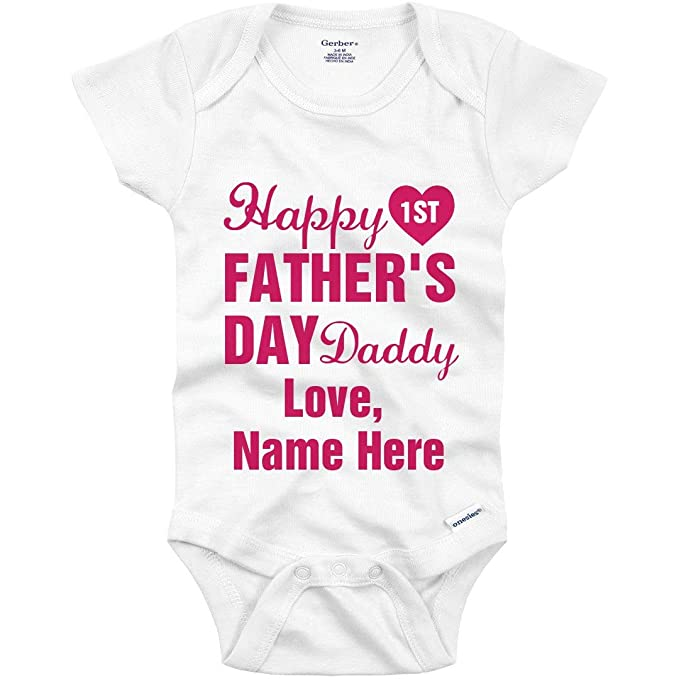 fb64628da Amazon.com: Happy First Father's Day Daddy Girl: Infant Gerber ...
