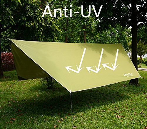61cYzfHACYL iNeibo Tarp 3x4 Wasserdicht Zeltplane Sonnenschutz Regenschutz mit 5 Zeltheringe und 6 Lange Schnüre Camping Zubehör…