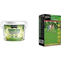 Abonos - Fertilizante Cesped Primavera-Verano Cubo 5kg - Batlle + Semillas de Césped - Césped Rústico y Decorativo 1Kg…