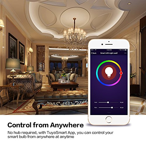 Wi-Fi Smart LED Light Bulb, Tastech Upgraded Version Dimmable Multicolored  Party Lights Bulb, No   PrestoMall - Lighting Bulb & Component
