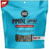 BIXBI Immune Support Dog Jerky Treats, Beef Liver, 15 Ounce