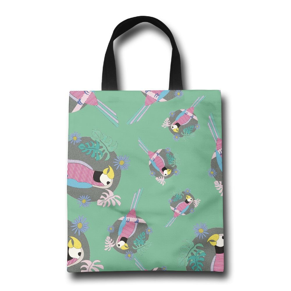 d4b0da238c9d lovely FTF BAG Parrot Cartoon Women Reusable Shopping Bag Casual ...