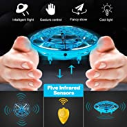 Picobee UFO Drones for Kids or Adult| Hand Operated Drone Helicopter, Easy Indoor Small Orb Flying Ball Drone Toys for Boys