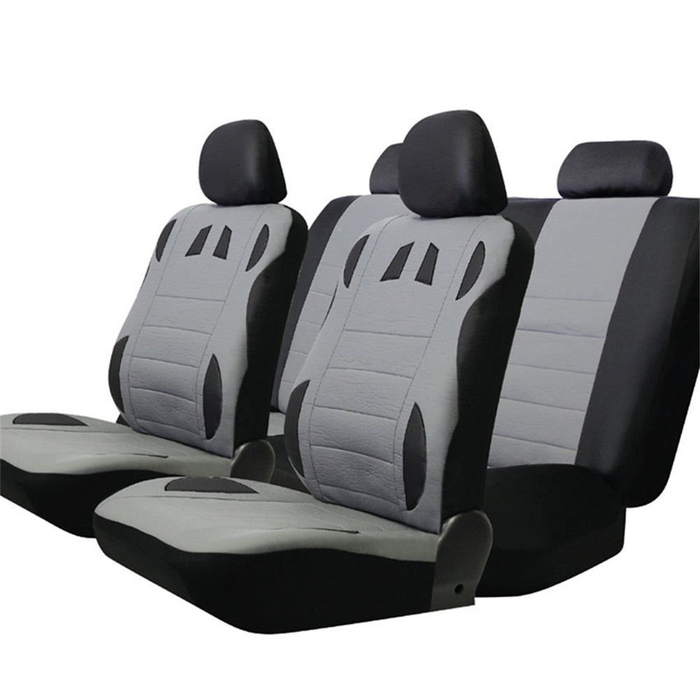 Car Seat Cover Auto Vehicle Cushion with Steering Wheel Wrap Shoulder Belt Pads