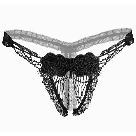 YanHoo Ropa Interior Lencería Sexy, mujer tanga bragas bragas atractivas tanga palabra de encaje pantalones