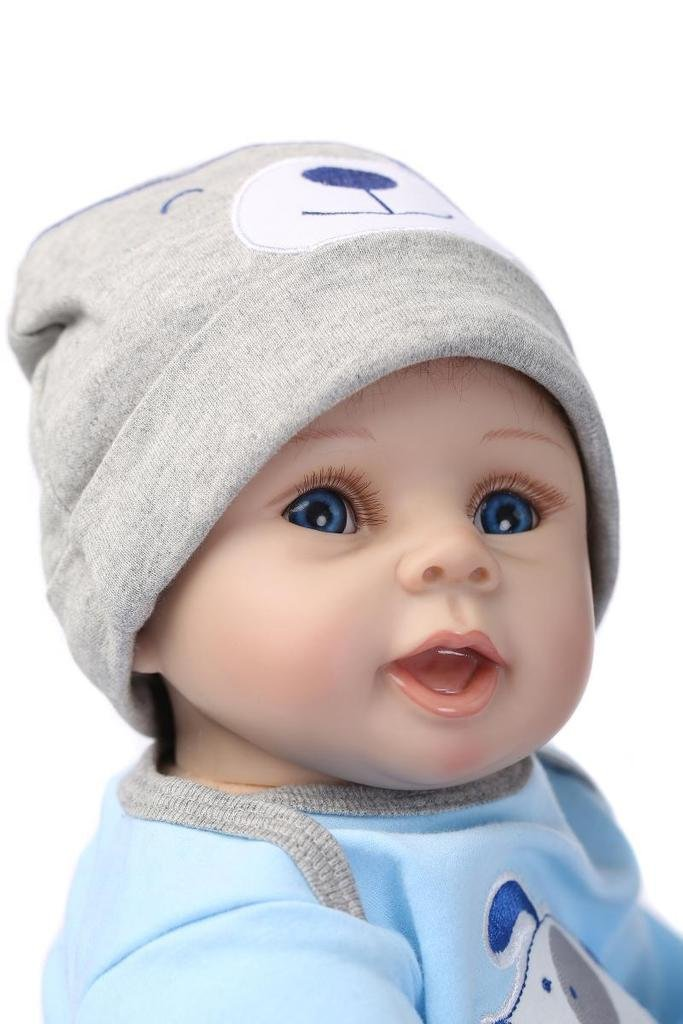 Lifelike Reborn New Baby Silicone Boy Alive Doll Stuffed Body 22inch Pretend Mommy Toy for Kids