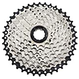 CYSKY 9 Speed Cassette 11-40 MTB Cassette 9 Speed Fit for Mountain Bike, Road Bicycle, MTB, BMX, SRAM Shimano Sunrace 9 Speed Freehub Body (Light Weight)