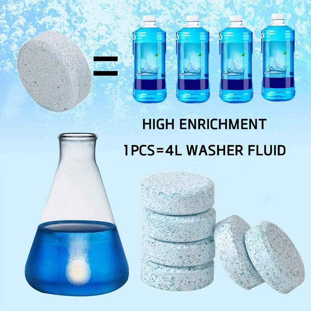 Auto instant Windscreen glass cleaning Tablet One tablets makes 4L