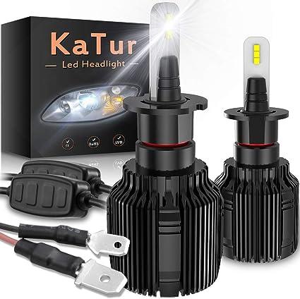 KATUR H3 Bombillas led Faros Chips CSP Super Bright 8000LM Kit de ...