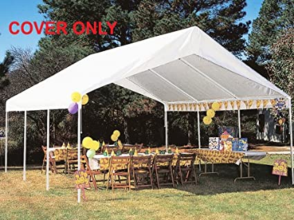 King Canopy Drawstring Cover 18x20 White