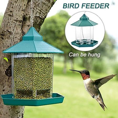 Waterproof Gazebo Hanging Wild Bird Feeder Outdoor Feeding For Decoration Garden
