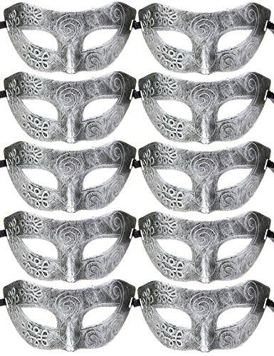 10pcs Set Mardi Gras Half Masquerades Venetian Masks Costumes Party Accessory (Venetian Carnival Mardi Gras Mask)