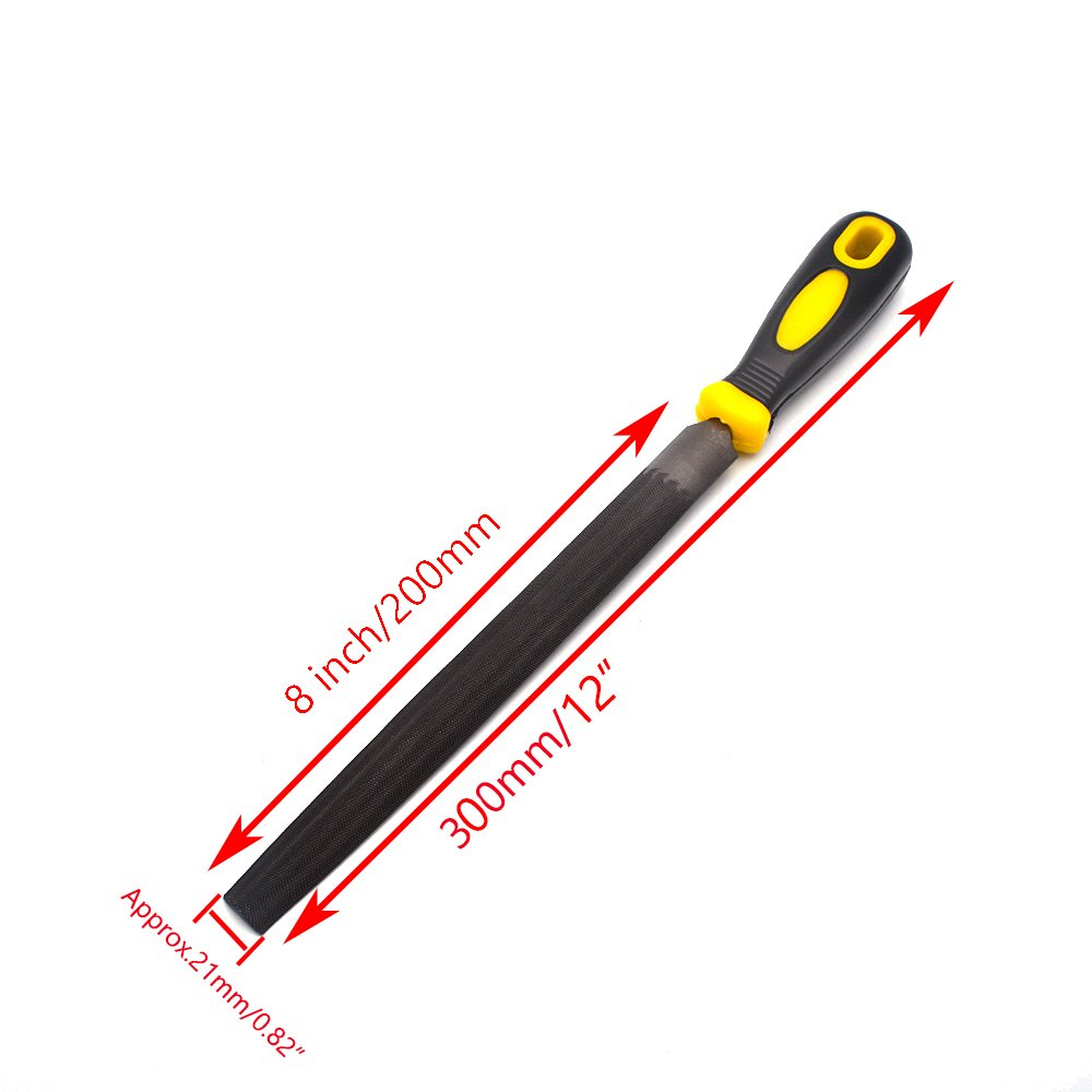 Sydien Half Round Hand Rasp,Hand Metal Tool for Shaping Wood//Metal /& Sharpening Tools Half Round File