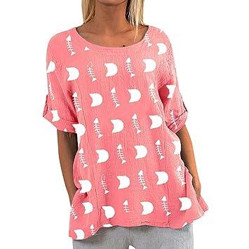 Blusa jessboy Camisa De Mujeres Gato Las Casual Estampado Con dCxorWBQe