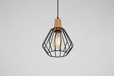 Glighone suspension luminaire industrielle lustre plafonnier vintage rétro e27 edison culot abat jour en métal