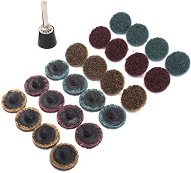 2/'/' Roll Lock Sanding Surface Coarse Pad R-Type Quick Change Fr 07480 Roloc Disc