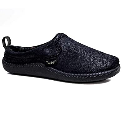 NEW Hombre WARM COOL SLIP ON HARD COMFORT SOLE MULE FLAT NAVY COMFORT HARD SLIPPERS Zapatos Talla c22e8f