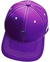 OutTop Fruit Embroidery Cotton Baseball Cap Boys Girls Snapback Hip Hop Flat Hat, Purple, Strap type:Adjustable