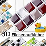 Tile makeover confezione da 10 adesivi a mosaico per for Mosaico adesivo per cucina