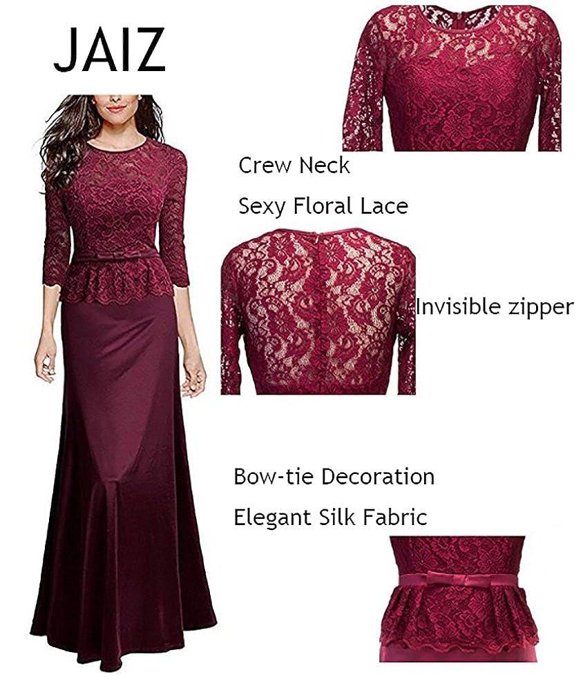 Amazon.com: Jaiz Maxi vestidos para mujer, Sexy mitad manga ...