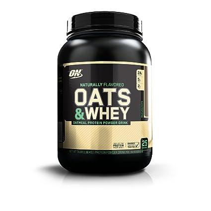 Optimum Nutrition Natural Oats&Whey Bebida de Avena y proteína Whey en Polvo de Sabor Chocolate -