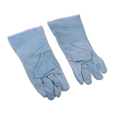 homyl 1 par guantes de trabajo de soldador Becerro protección antideslizantes