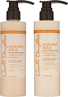 product image for Carol's Daughter Almond Milk Daily Damage Repair Sulfate Free Shampoo and Conditioner Set for Damaged Hair, Shampoo and Restoring Hair Conditioner with Shea and Aloe