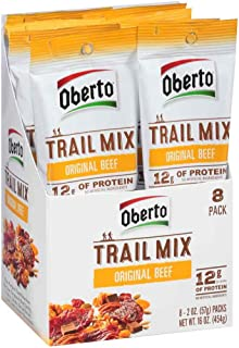 product image for Oberto Original Beef Jerky Trail Mix, 2 Ounce -- 48 per case.