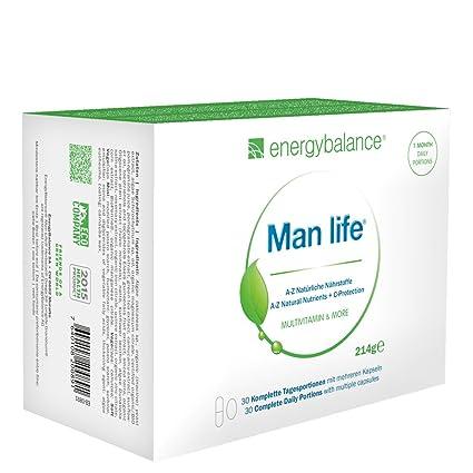 Man life A-Z | Minerales y Multivitaminas Hombre | Nutrientes Naturales | Súper Antioxidantes Naturales |