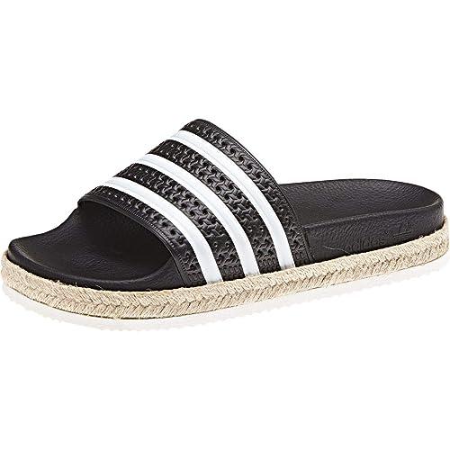 free shipping 29767 09179 adidas Adilette New Bold Nere con Fascia in Juta Amazon.it Scarpe e borse