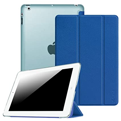 Fintie Ipad 2 3 4 Case Lightweight Smart Slim Shell Translucent Frosted Back Cover Supports Auto Wake Sleep For Ipad 4th Generation With Retina