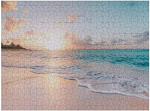 Jigsaw Puzzles 300 Pieces for Adults and Kids, OʻAhu, Hawaii, North Shore, Waialua - Beach Scene Faux Decompressing Toy Fun Family Game for Kids Adults
