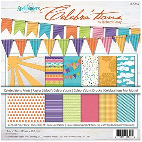 Spellbinders SCP-016 Celebrations Prints Scrapbooking Crafting Paper