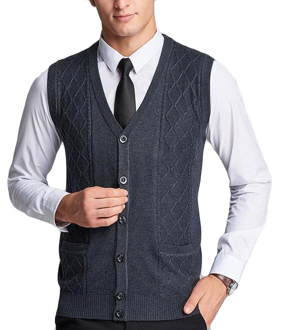 Jaycargogo Mens Slim Fit Soft Knit Open Front Cardigan Sweater Grey M