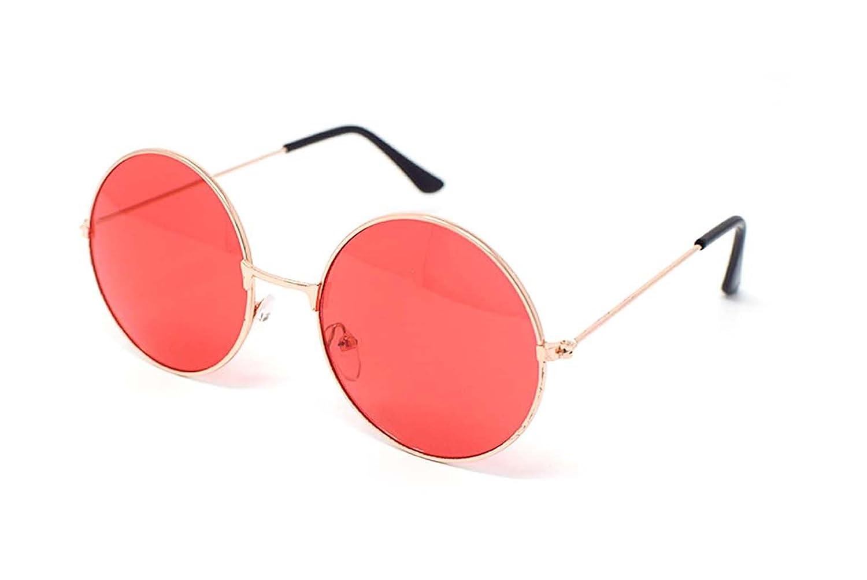 Ultra® oro incorniciato con rosso lenti adulti retrò tondo vecchio vintage occhiali da sole completo...