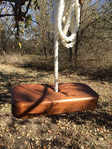 AD Planet High Quality Wooden Square Swing for Home & Garden (Brown, 14 x 6 inches)