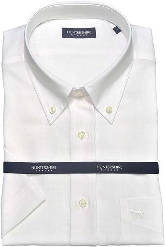 Huntershire Street - Huntershire Street - Camisa Blanca Lino Poliester - 5 (XL) (44) (17 1/2): Amazon.es: Ropa y accesorios