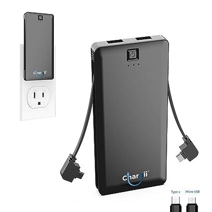 Amazon.com: Cargador portátil integrado con cable de Apple ...